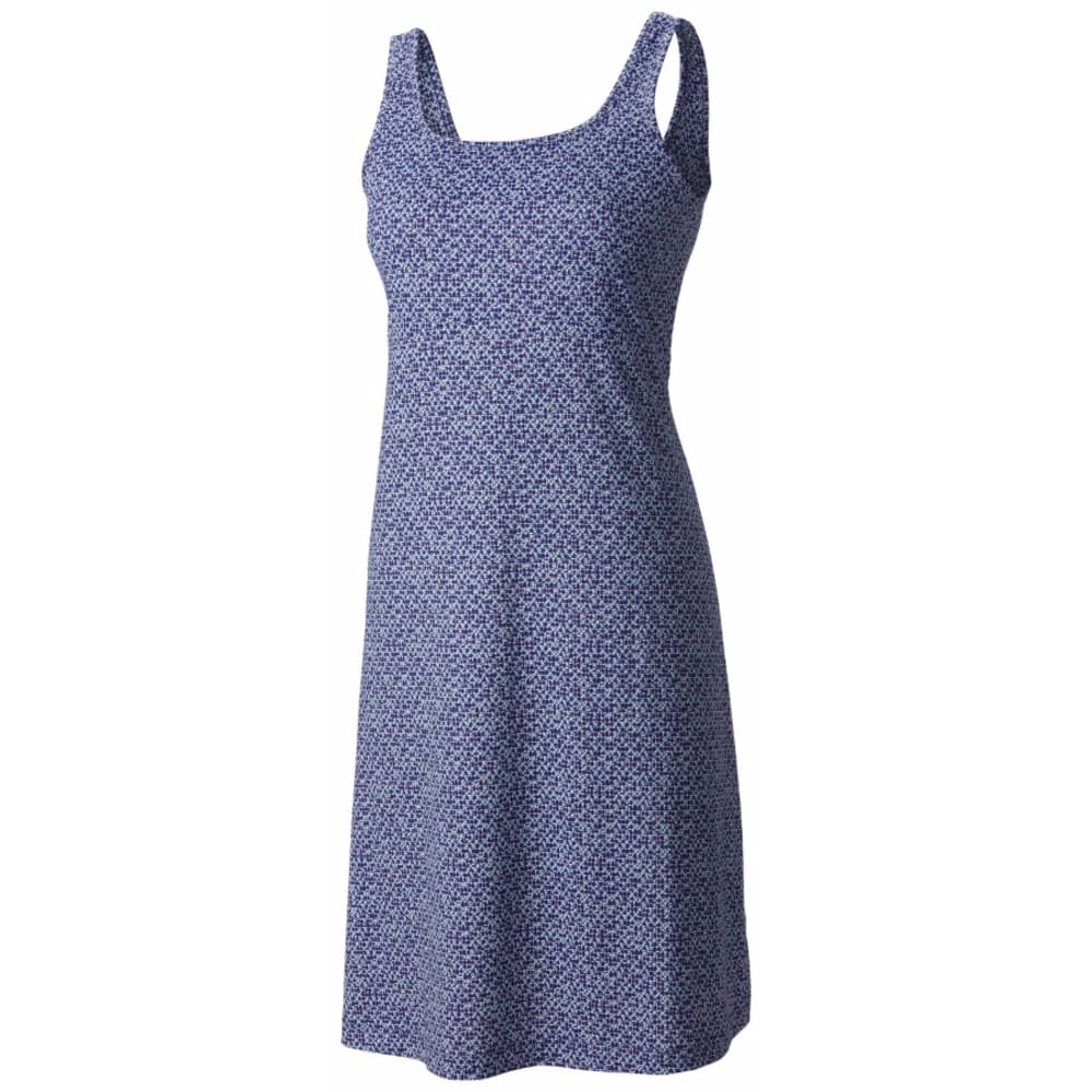 COLUMBIA Women's PFG Freezer III Dress - 377-OCEAN WATER DOT