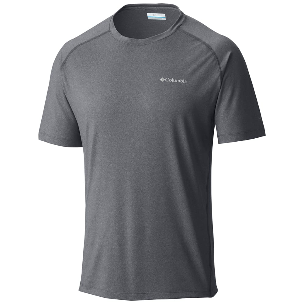 COLUMBIA Men's Tuk Mountain Short-Sleeve Tee - 053-GRAPHITE HTHR