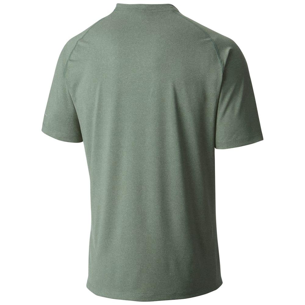 COLUMBIA Men's Tuk Mountain Short-Sleeve Tee - 328-COMMANDO HTHR