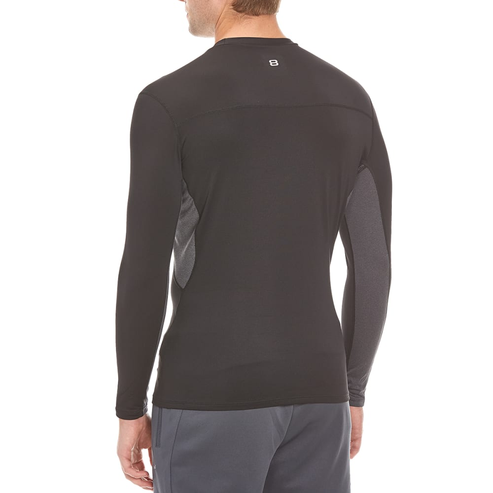 LAYER 8 Men's Base Layer Crew Shirt - BLACK