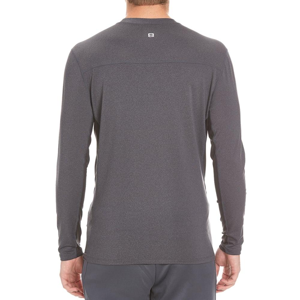 LAYER 8 Men's Base Layer Crew Shirt - GRAY