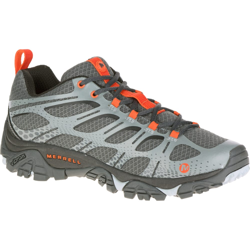 MERRELL Men's Moab Edge Sneaker, Grey - GRAY