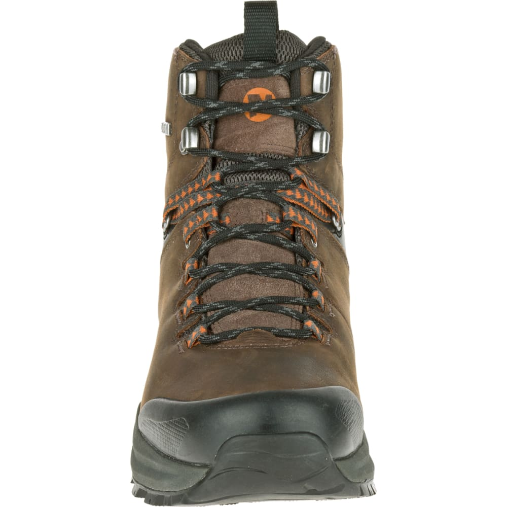 MERRELL Men's Phaserbound Waterproof Backpacking Boot, Clay - CLAY/ORANGE