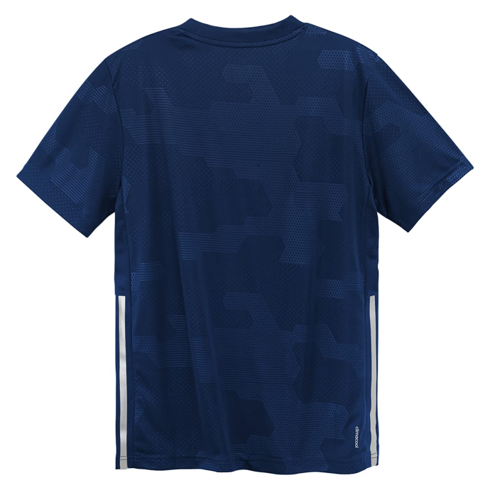 ADIDAS Boys' Embossed Digi Camo Short-Sleeve Tee - BLUE