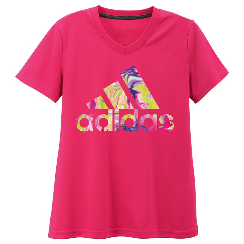 ADIDAS Girls' Climalite Electric Logo Tee - PINK-ARP