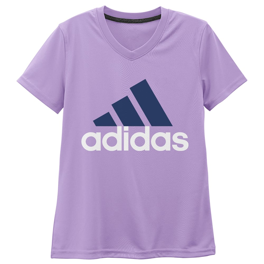 ADIDAS Girls' Climalite Adi Logo Short-Sleeve Tee - PURPLE