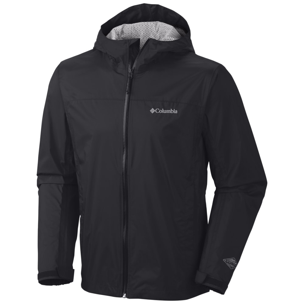 COLUMBIA Mens Evapouration Waterproof Jacket - 010-BLACK