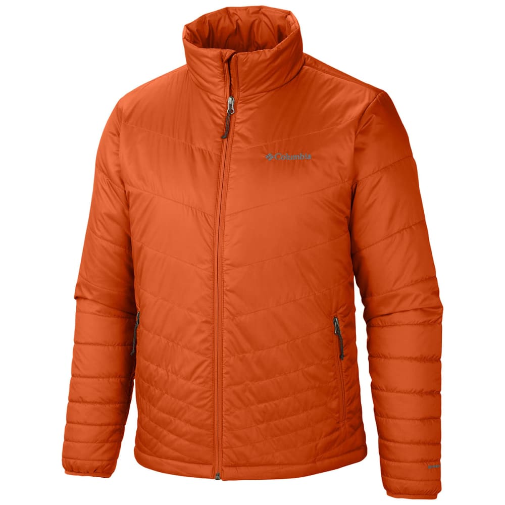 Dnu - Columbia Men's Tech Talk Exs Jacket - Orange, L