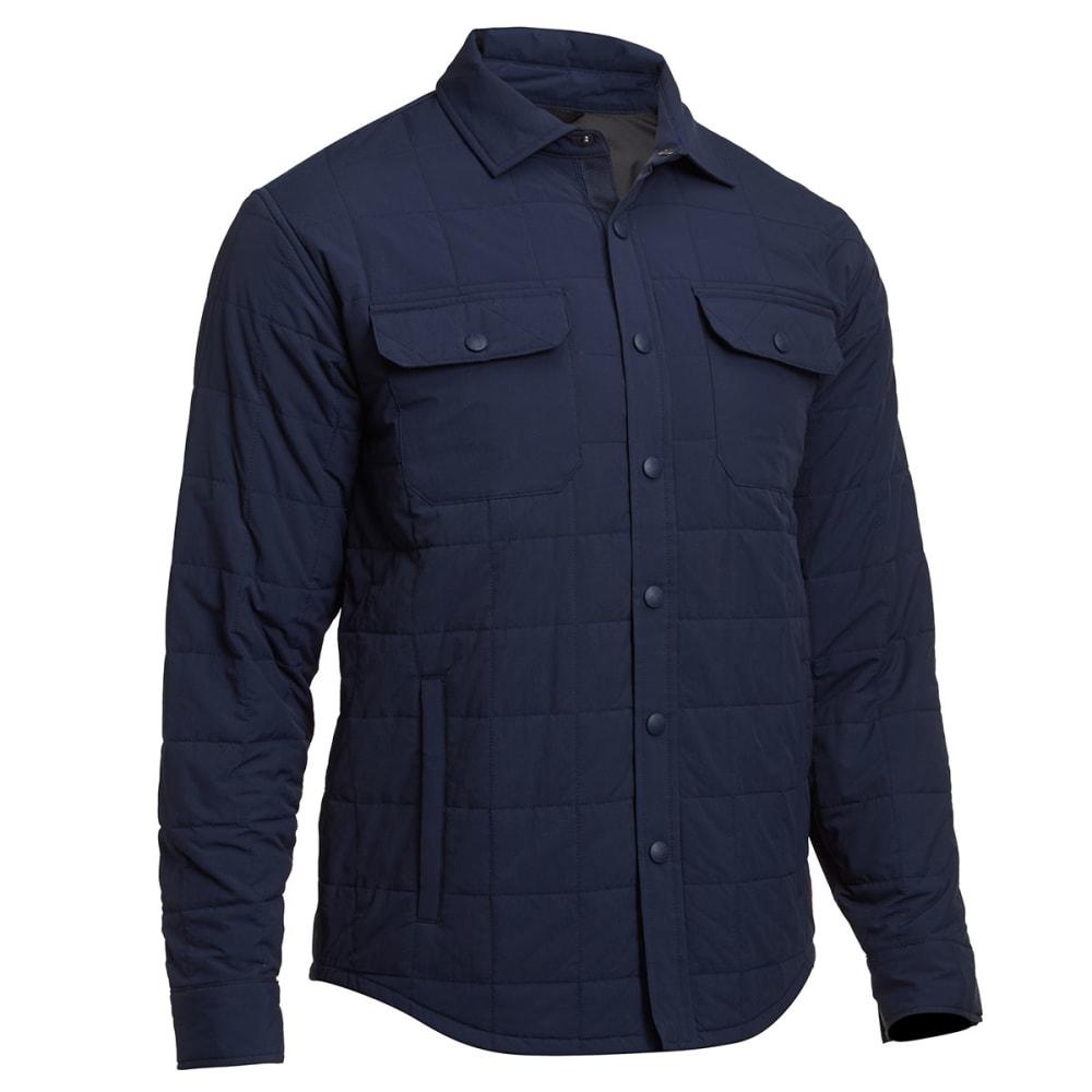 EMS Men's Adirondack Quilted Shirt Jacket - NAVY BLAZER