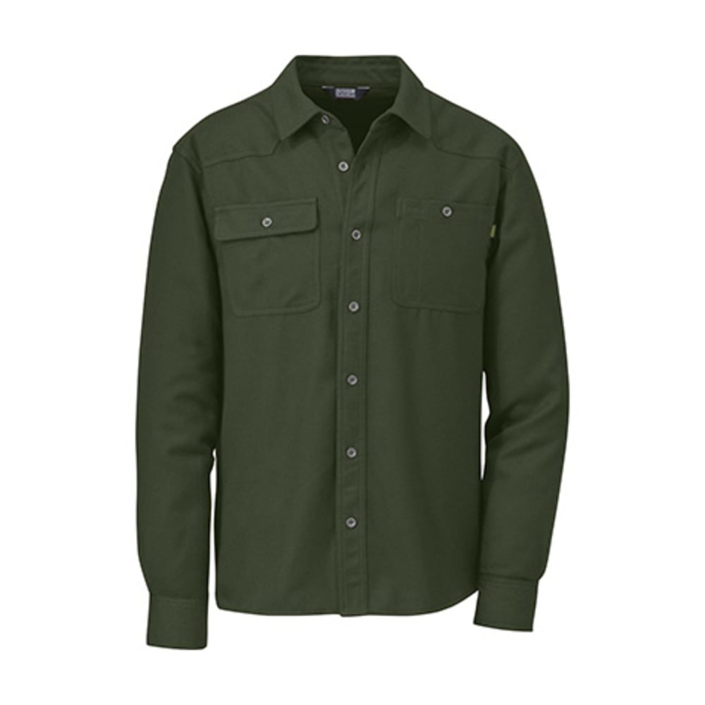 OUTDOOR RESEARCH Men's Feedback Flannel Shirt - EVERGREEN