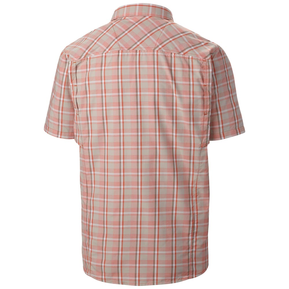 COLUMBIA Men's Silver Ridge   Multi Plaid Short-Sleeve Shirt - BACKCOUNTRY ORANGE