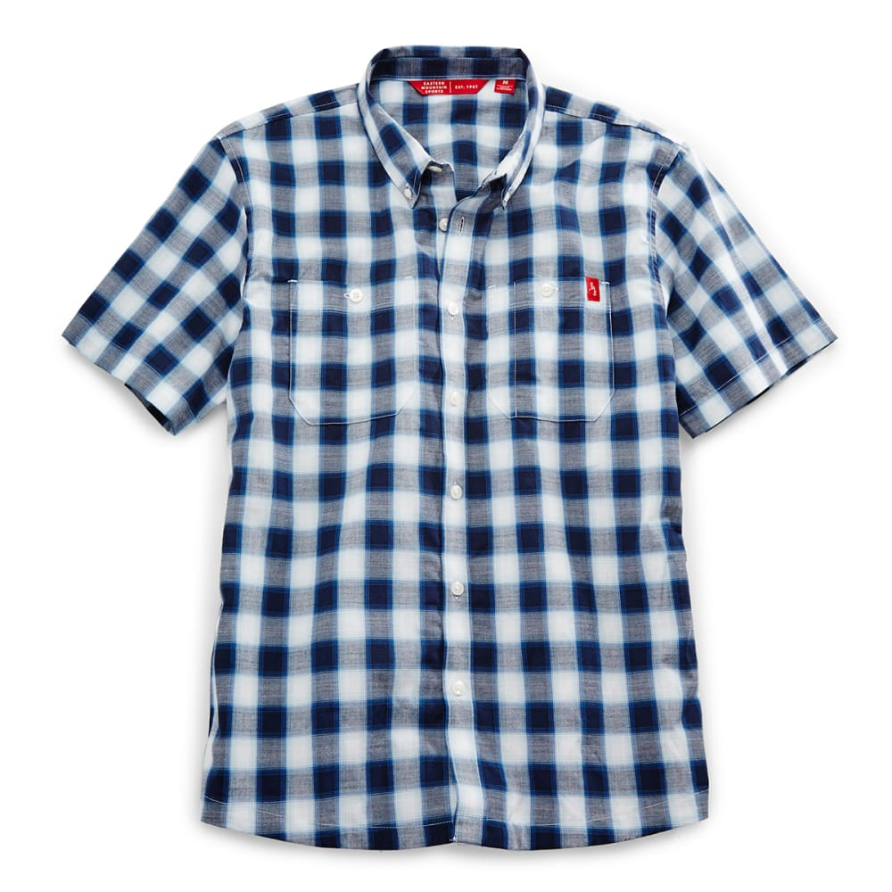 EMS Men's Ranger Short-Sleeve Plaid Shirt - COOL BLUE