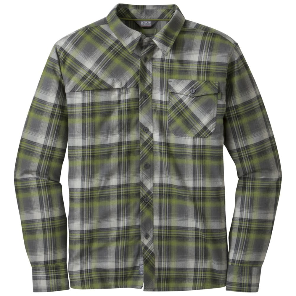 OUTDOOR RESEARCH Men's Tangent Shirt - HOPS/BLACK