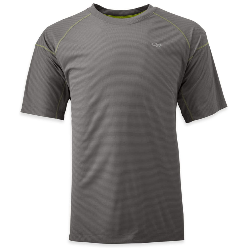 OUTDOOR RESEARCH Men's Echo T-Shirt - PEWTER/LEMONGRASS
