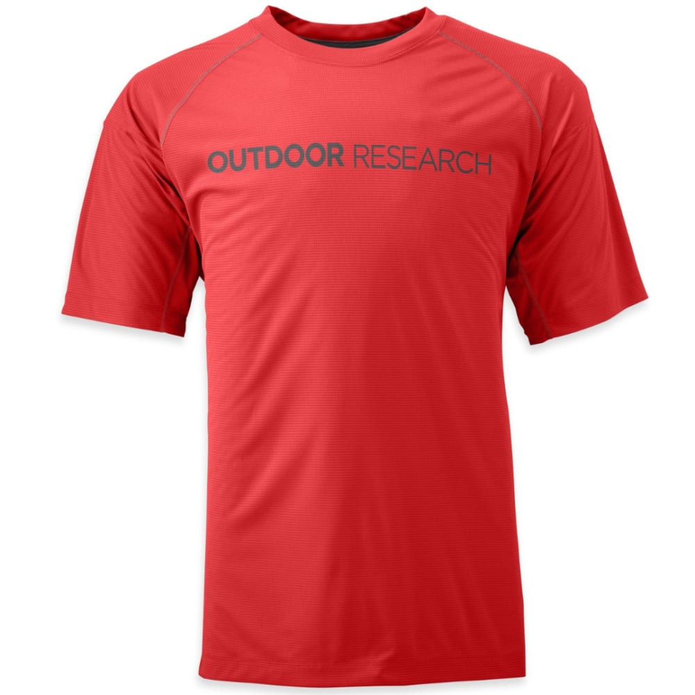OUTDOOR RESEARCH Men's Echo Graphic Tee - HOT SAUCE/CHARCOAL