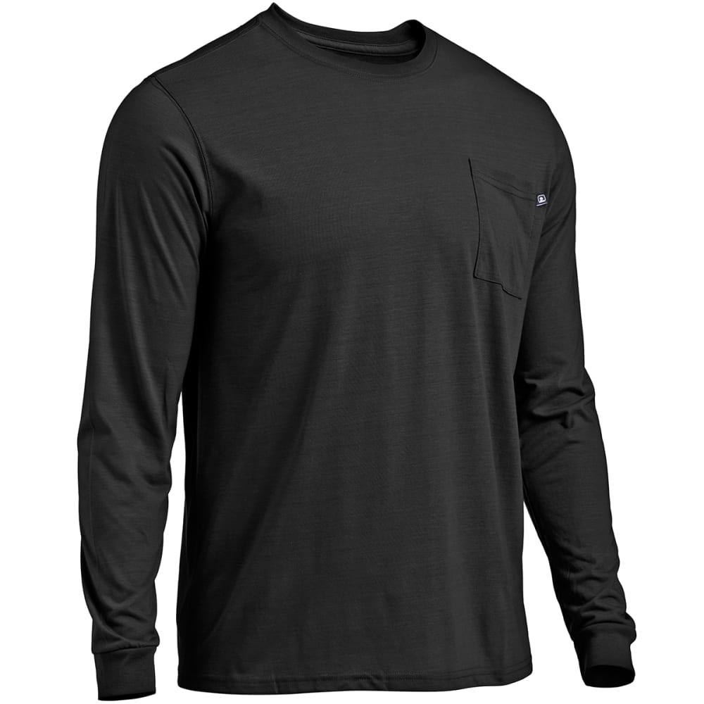 EMS Men's Techwick Vital Long-Sleeve Pocket Tee - JET BLACK HTR
