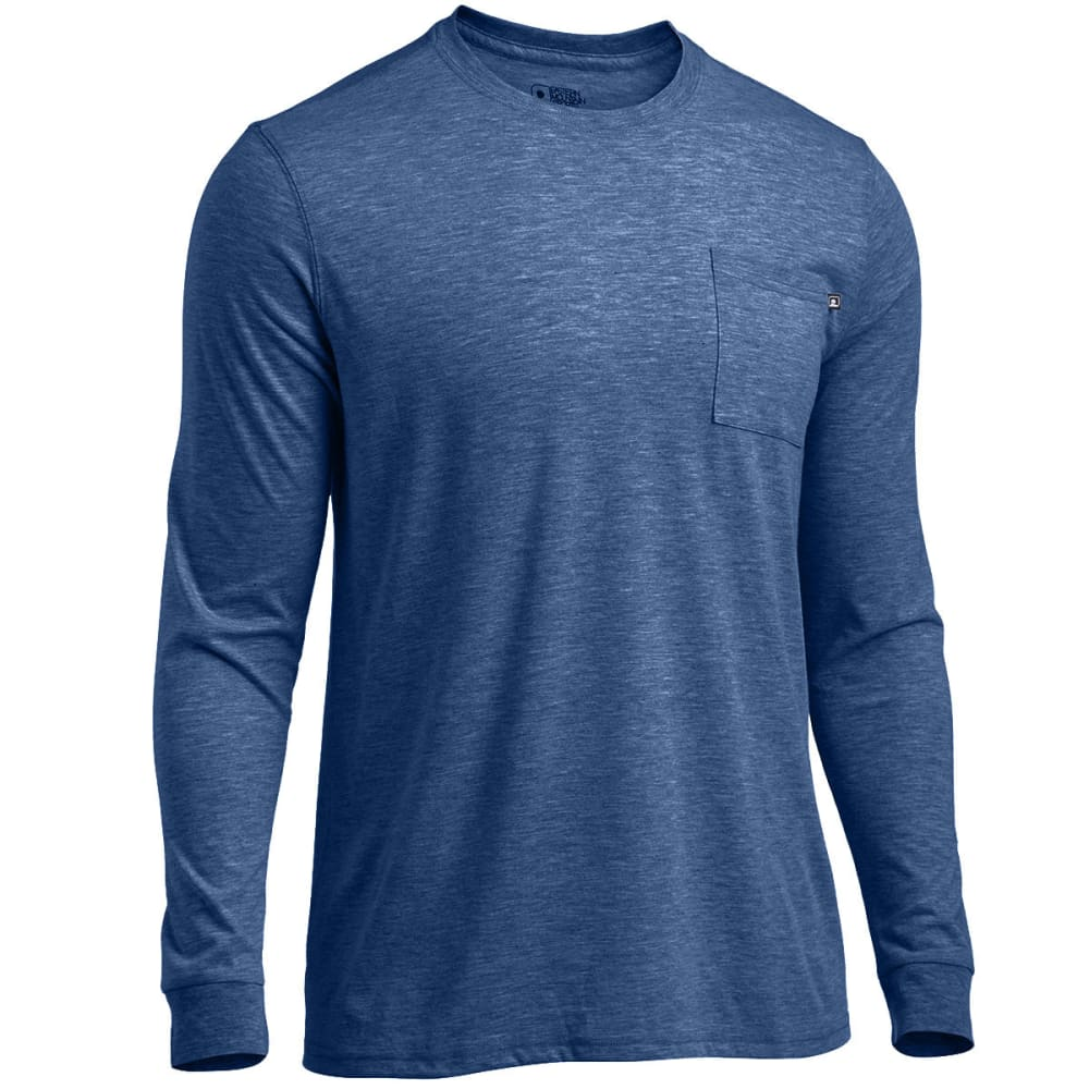 EMS Men's Techwick Vital Long-Sleeve Pocket Tee - ENSIGN BLUE HEATHER