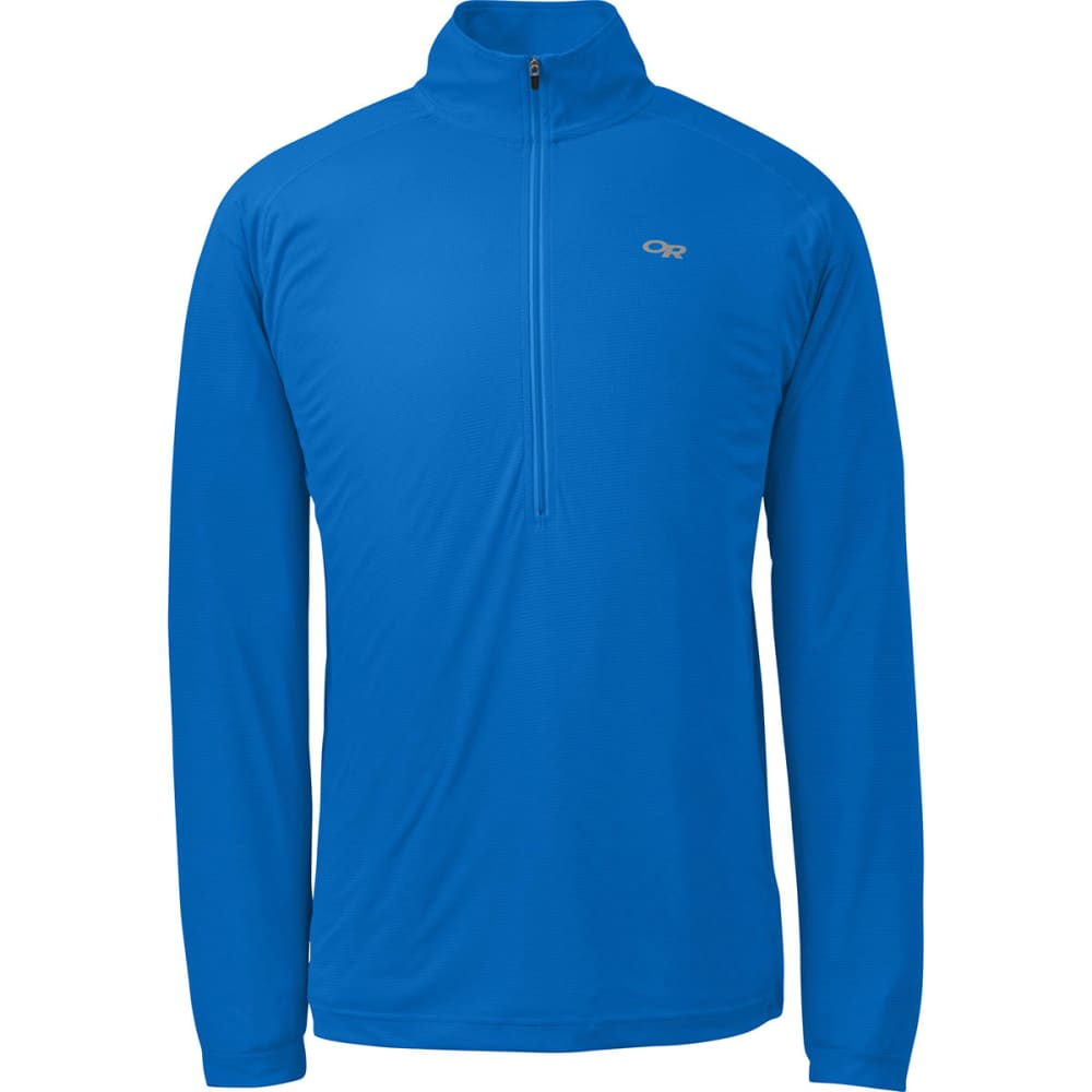 OUTDOOR RESEARCH Men's Echo Zip Shirt - GLACIER/NIGHT