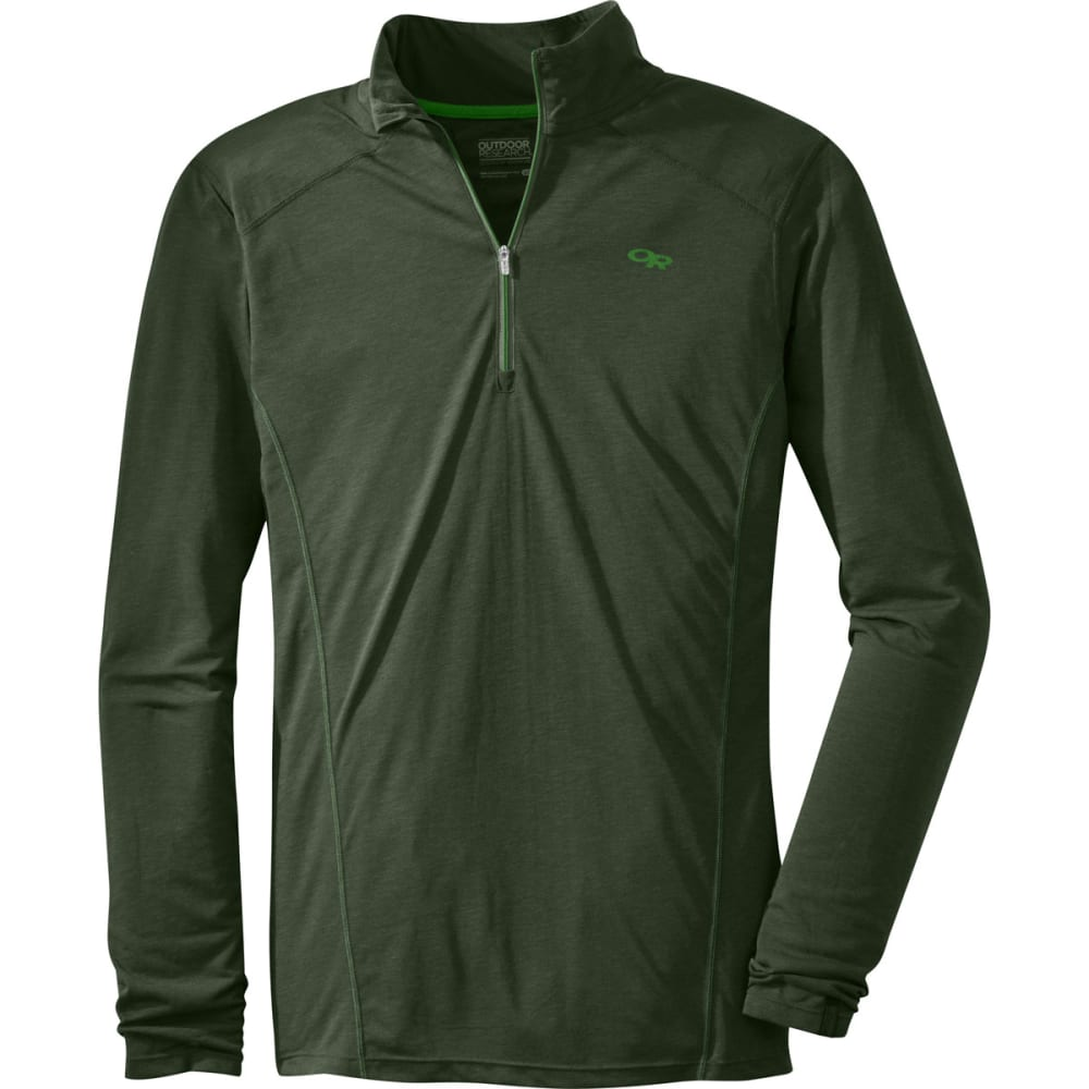 OUTDOOR RESEARCH Men's Sequence ¼ Zip Top - EVERGREEN