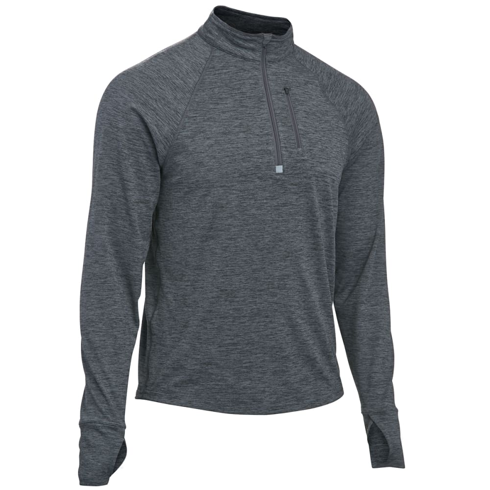 EMS Men's Techwick Transition  ½ Zip - JET HEATHER