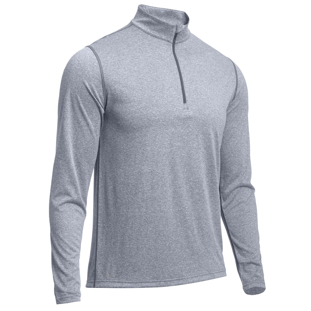 EMS® Men's Techwick® Essentials  ¼ Zip   - NEUTRAL GREY HEATHER