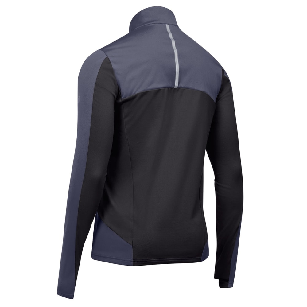 EMS Men's Techwick Northshield Wind Half Zip, past season - EBONY