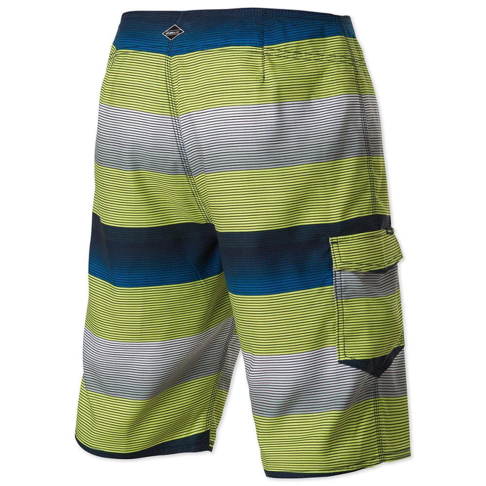 O'NEILL Men's Santa Cruz Stripe Boardshorts - LIME