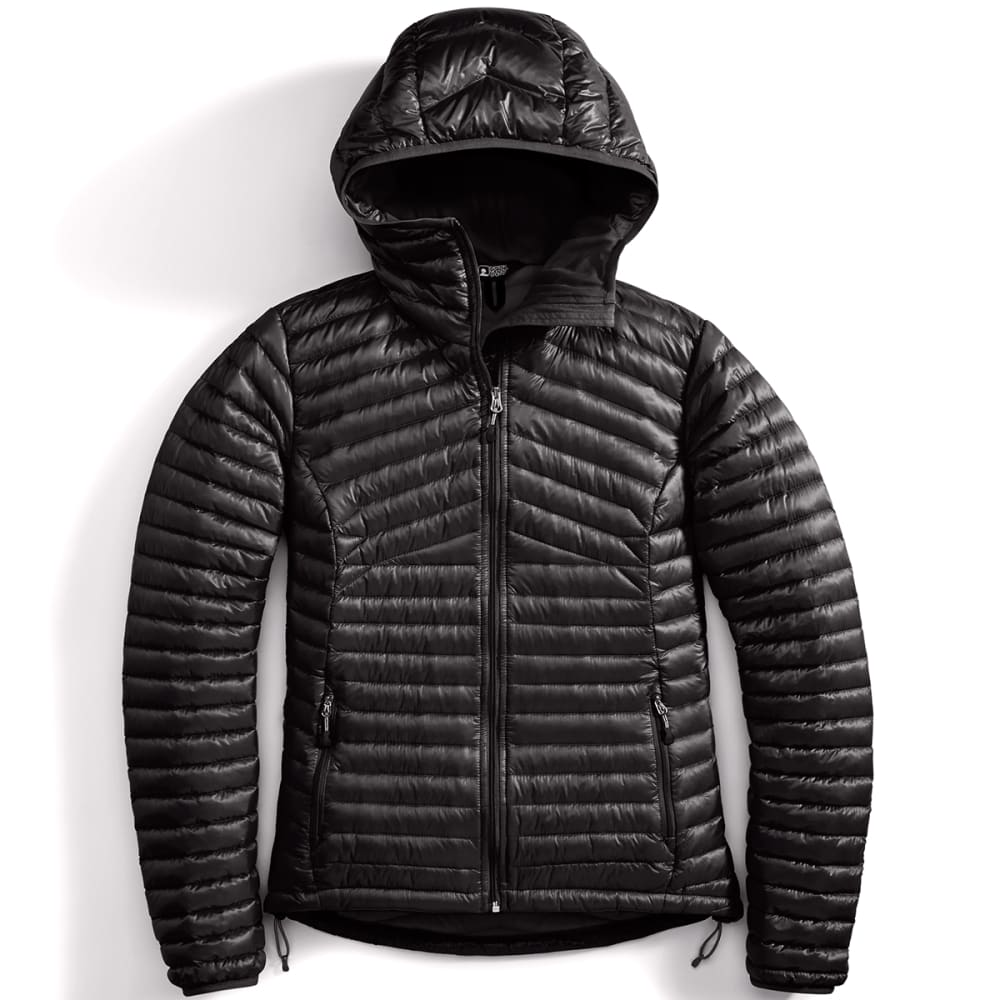 EMS® Women's Feather Pack 800 Downtek™ Hooded Jacket  - JET BLACK