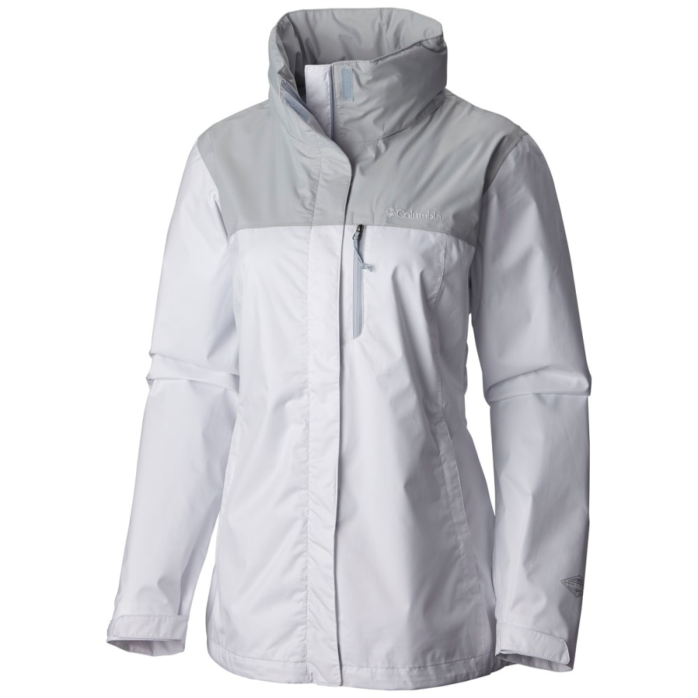 COLUMBIA SPORTSWEAR Women's EvaPOURation Jacket - 100-WHITE CIRRUS GRY
