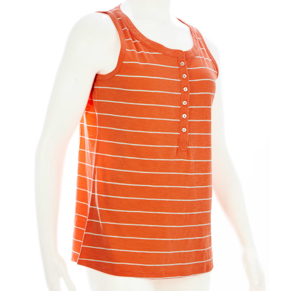 EMS Women's Henley Tank - CORAL