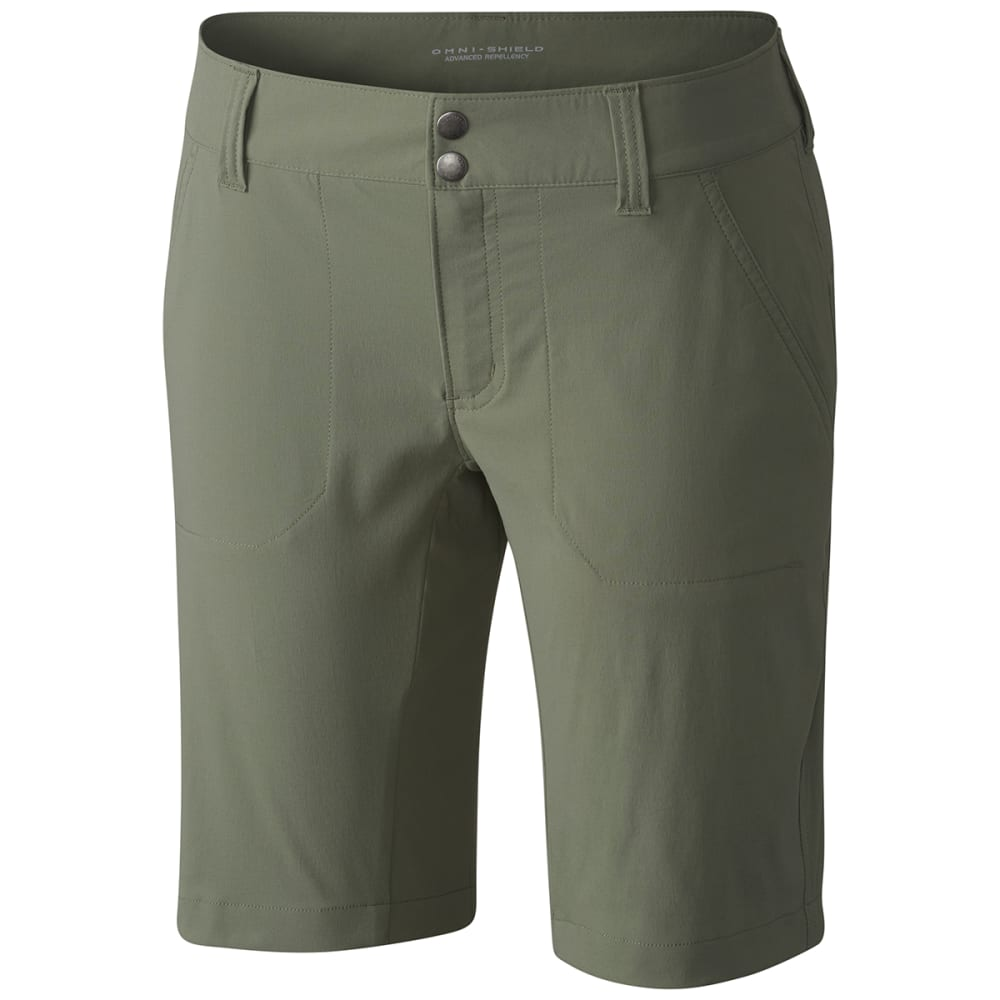 Columbia Women's Saturday Trail Long Shorts - Green, 4