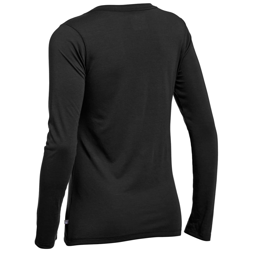 EMS Women's Techwick Vital Long-Sleeve V-Neck Tee - BLACK