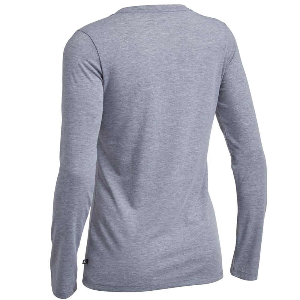 EMS® Women's Techwick® Vital Long-Sleeve V-Neck Tee - GRAY HEATHER