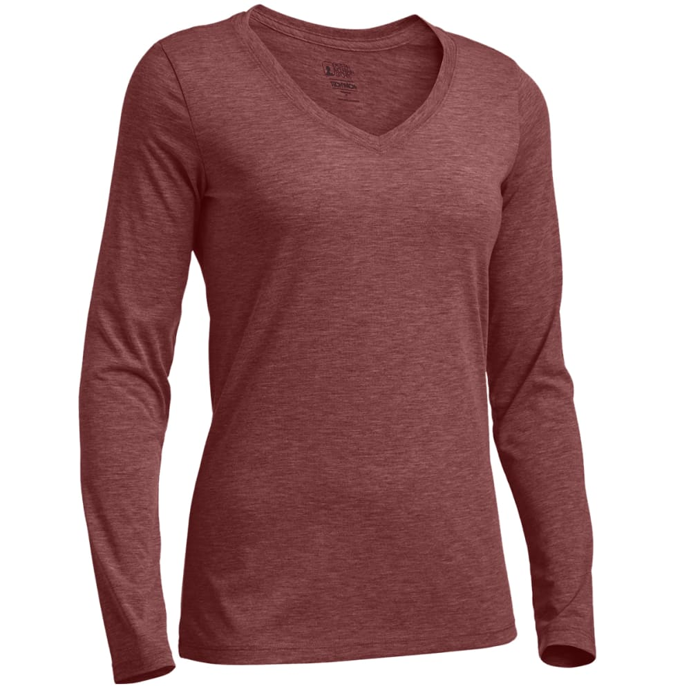 Ems Women's Techwick Vital Long-Sleeve V-Neck Tee - Red, S