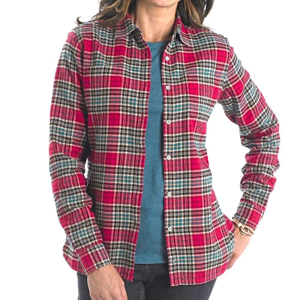WOOLRICH Women's Pemberton Flannel Shirt - CHERRY RED
