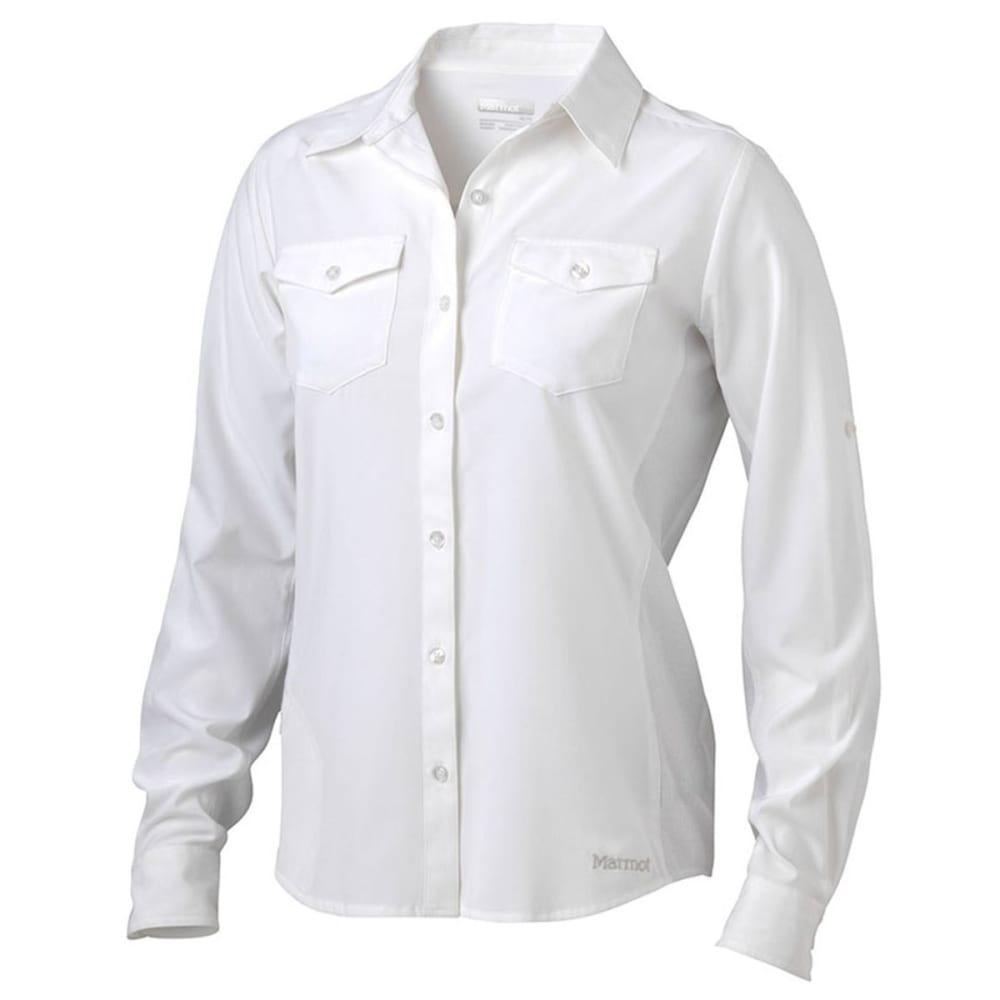 MARMOT Women's Annika Long-Sleeve Shirt - 080-WHITE