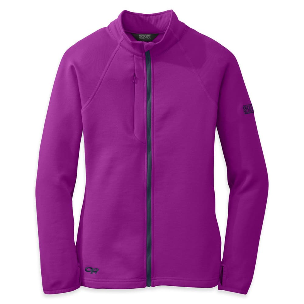 OUTDOOR RESEARCH Women's Radiant Hybrid Jacket - ULTRAVIOLET/ NIGHT