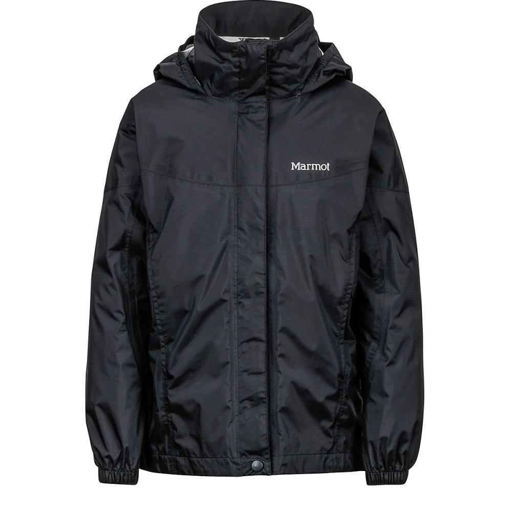 Marmot Girls' Precip Rain Jacket - Black, L