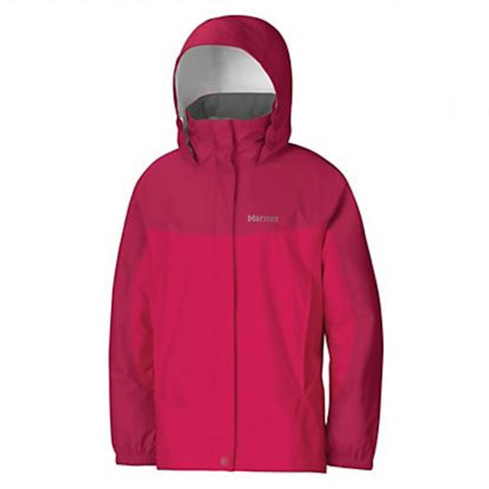 Marmot Girls' Precip Rain Jacket - Red, YOUTH L