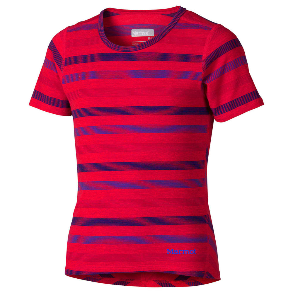 Marmot Girls' Gracie Tee, S/s - Red, YOUTH S