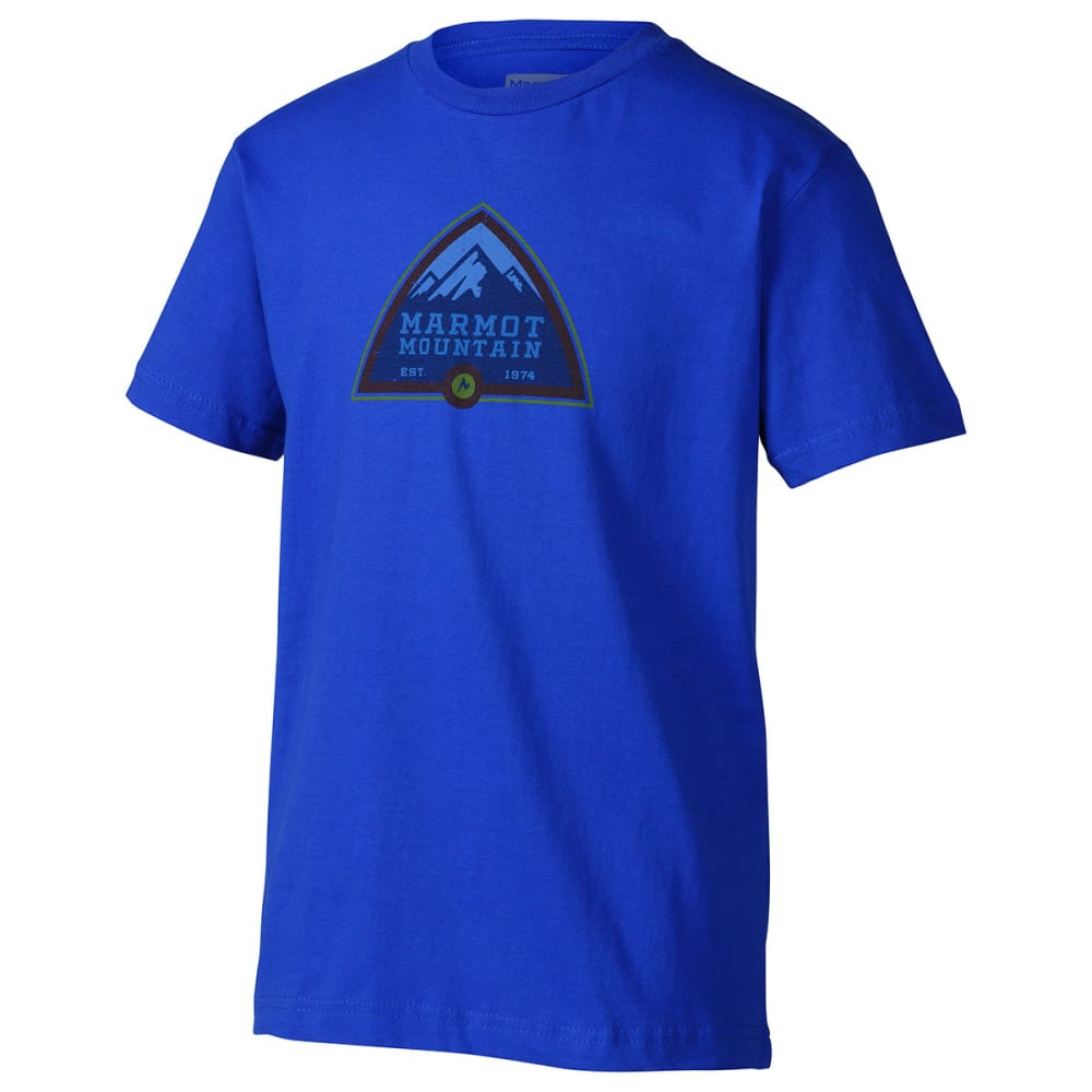Marmot Boys' Tioga Pass T-Shirt, S/s - Blue, YOUTH S