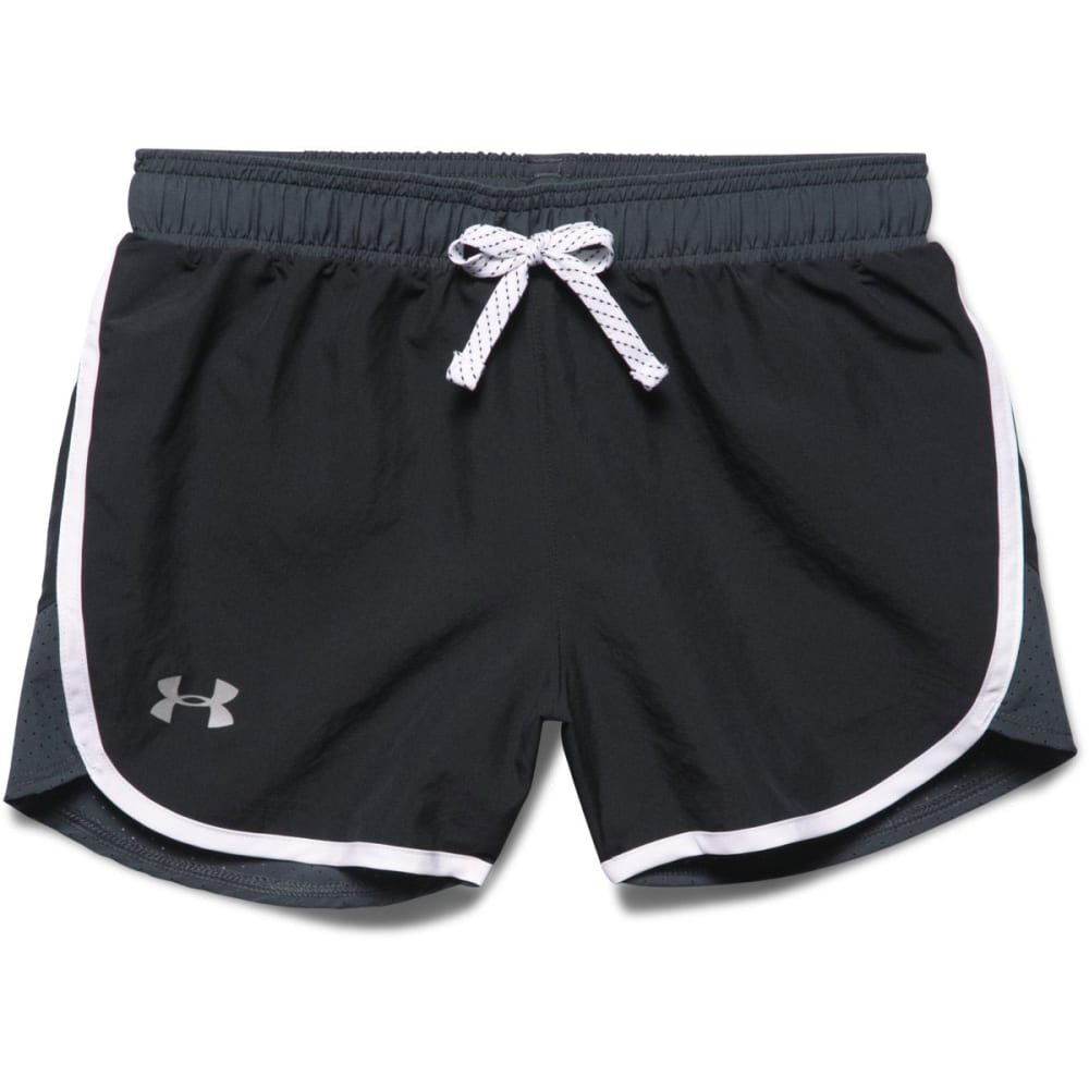 UNDER ARMOUR Girls' Fast Lane Shorts - BLACK