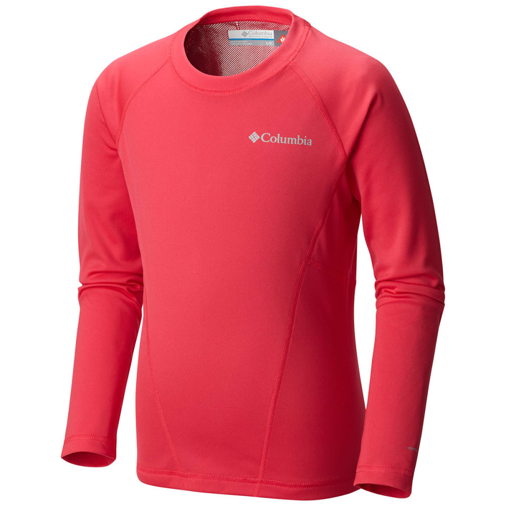 COLUMBIA Kids' Midweight Crew - PUNCH PINK