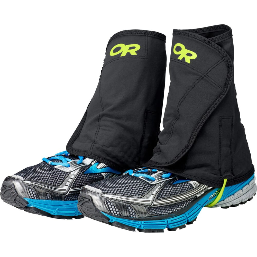 OUTDOOR RESEARCH Men's Wrapid Gaiters - BLACK/LEMONGRASS