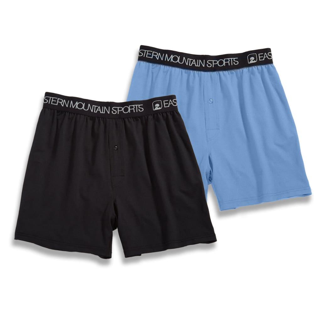 EMS Men's Techwick Boxers, 2-Pack - JET BLACK