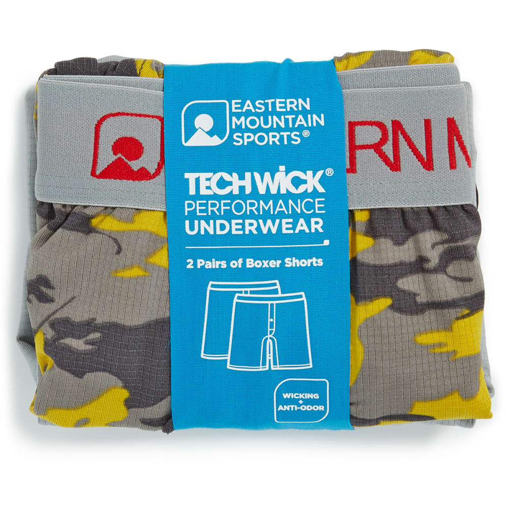 EMS® Men's Techwick® Boxers, 2-Pack  - WARM OLIVE
