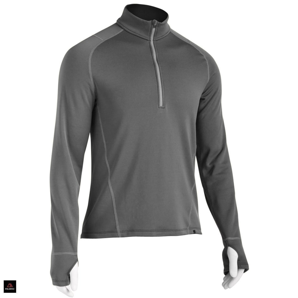 EMS® Men's Techwick® Heavyweight ¼ Zip Baselayer  - CHARCOAL HEATHER