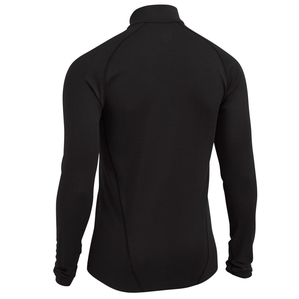 EMS® Men's Techwick® Midweight ¼ Zip Baselayer - BLACK