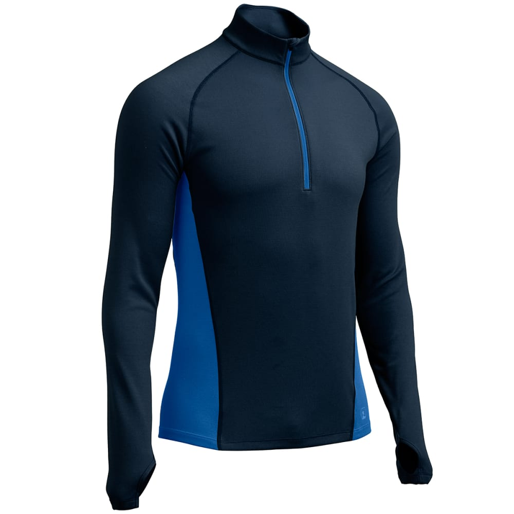 Ems(R) Men's Techwick(R) Midweight  1/4 Zip Baselayer  - Blue, S