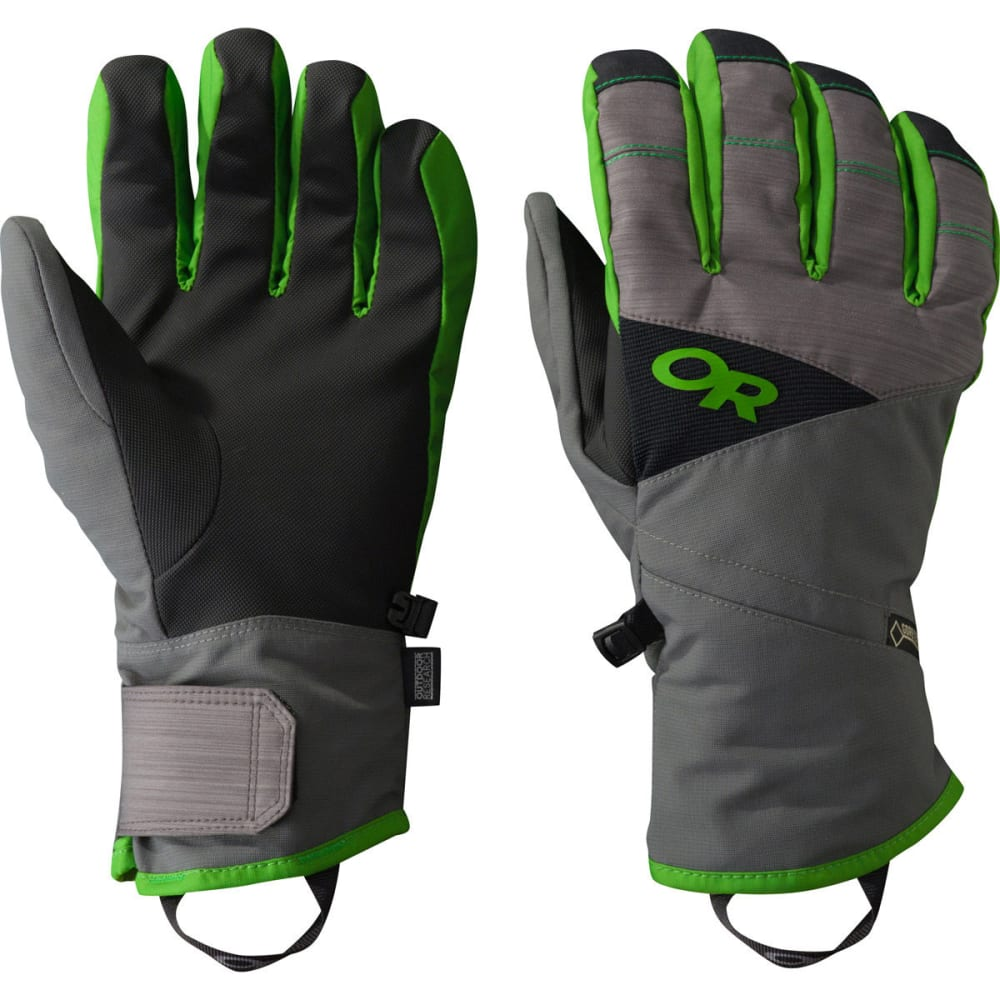 OUTDOOR RESEARCH Men's Centurion Gloves - CHARCOAL/FLASH